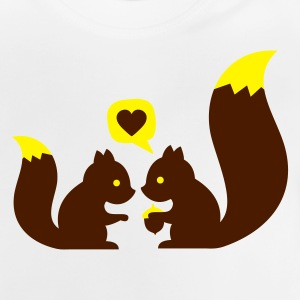 Gris clair chiné squirrels in love - to give each other Sweats Enfants - T-shirt Bébé