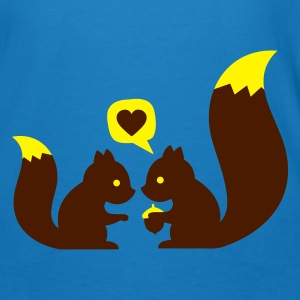 Blu pavone squirrels in love - to give each other Borse - T-shirt ecologica da uomo