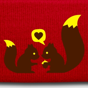Red squirrels in love - to give each other Bags  - Winter Hat
