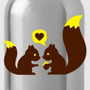 Rojo squirrels in love - to give each other Ropa interior - Cantimplora