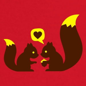 Rojo squirrels in love - to give each other Ropa interior - Camiseta manga larga bebé
