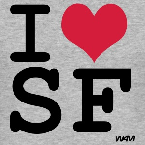 Gråmelert i love san francisco by wam Gensere - Slim Fit T-skjorte for menn