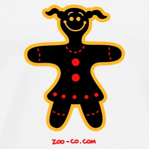 White Christmas Cookie Woman Mugs  - Men's Premium T-Shirt