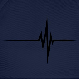Navy Pulse Beat EKG (1c, NEU) T-shirts - Baseballcap