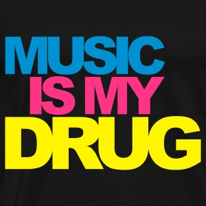 Black Music Is My Drug V2 Jumpers - Men's Premium T-Shirt