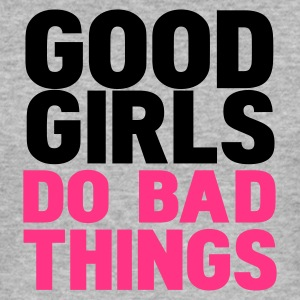 Gråmelerad good girls do bad things Tröjor - Slim Fit T-shirt herr