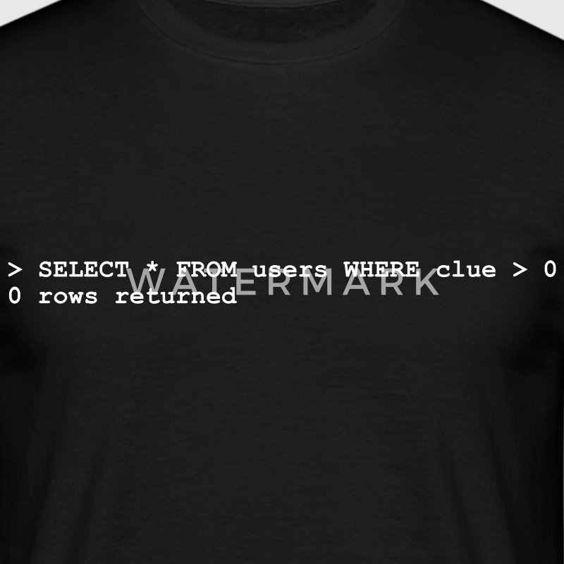 Black Coder No Clue (1c, NEU) Men's T-Shirts - Men's T-Shirt