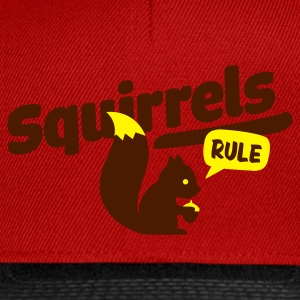 Red squirrels rule - eichhörnchen Men's T-Shirts - Snapback Cap