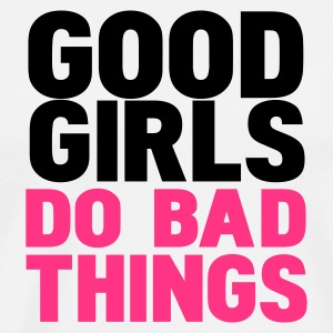 Blanc/noir good girls do bad things T-shirts manches longues - T-shirt Premium Homme