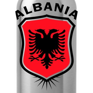 Rot Wappen Albanien Albania T-Shirts - Trinkflasche
