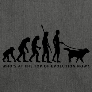 evolution_dog_b Sweatshirts - Skuldertaske af recycling-material