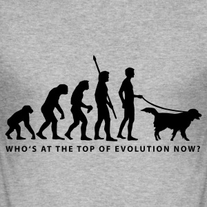 evolution_dog_b Hoodies & Sweatshirts - Men's Slim Fit T-Shirt