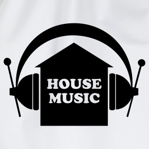 Weiß House music T-Shirts - Turnbeutel