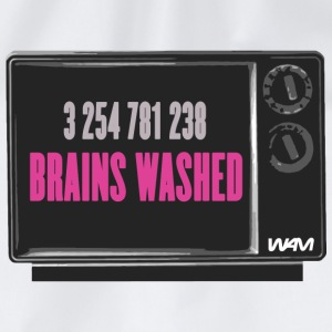 Vit/svart brains washed by wam Långärmade T-shirts - Gymnastikpåse