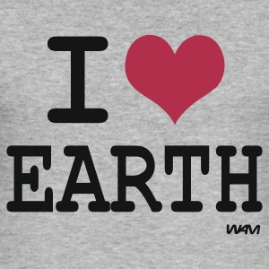 Gris chiné i love earth by wam Sweatshirts - Tee shirt près du corps Homme