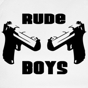 Wit RUDE BOYS T-shirts - Baseballcap