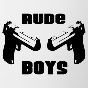 Wit RUDE BOYS T-shirts - Mok