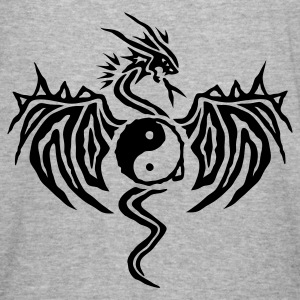 Army Yin Yang Dragon Jacken - Männer Slim Fit T-Shirt