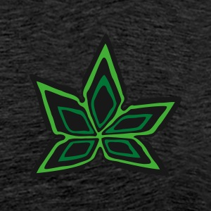 Green Cannabis Marijuana Leaf #3 Hoodies & Sweatshirts - Men's Premium T-Shirt