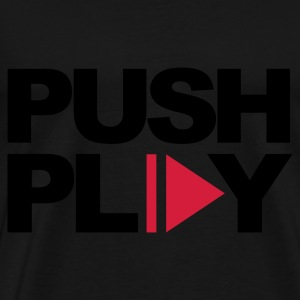 Black Push Play Jumpers - Men's Premium T-Shirt
