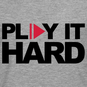Rosado claro Play It Hard Sudadera - Camiseta de manga larga premium hombre