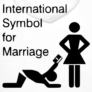 Weiß International Symbol for Marriage - Hochzeit - Heirat - Wedding - funny - lustig - fun - joke - Spru T-Shirts - Männer Premium Hoodie
