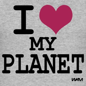 Grijs gespikkeld i love my planet by wam Sweaters - slim fit T-shirt