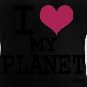 Zwart i love my planet by wam Kinder shirts - Baby T-shirt
