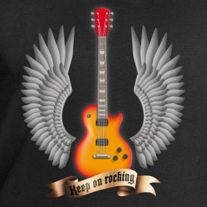 Schwarz guitars_and_wings_red T-Shirts - Männer Sweatshirt von Stanley & Stella