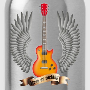 Schwarz guitars_and_wings_red T-Shirts - Trinkflasche