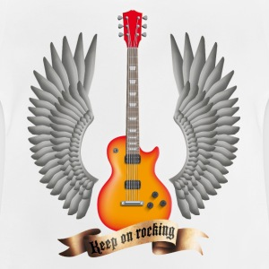 Weiß guitars_and_wings_red Kinder T-Shirts - Baby T-Shirt