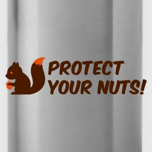 Verde hoja protect your nuts Mochilas - Cantimplora