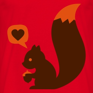 Red eichhörnchen squirrel loves nuts Bags  - Men's T-Shirt