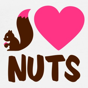 White i love nuts - squirrel Mugs  - Men's Premium T-Shirt