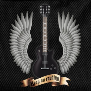 guitars_and_wings_black Tee shirts - Sac à dos Enfant