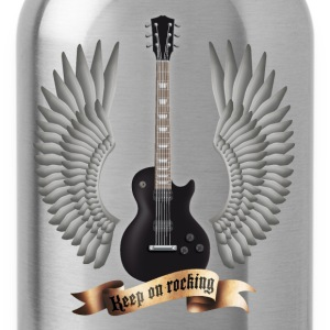 Schwarz guitars_and_wings_black T-Shirts - Trinkflasche