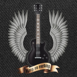 guitars_and_wings_black T-Shirts - Snapback Cap