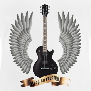 Weiß guitars_and_wings_black Kinder T-Shirts - Baby T-Shirt