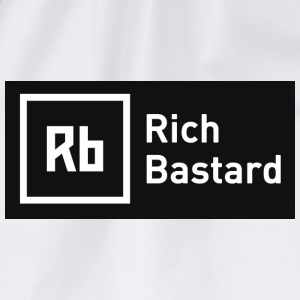 White Rich Bastard Men's T-Shirts - Drawstring Bag