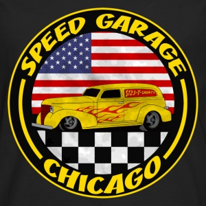 Noir chicago speed garage T-shirts - T-shirt manches longues Premium Homme