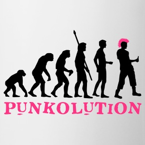 evolution_punk_2c_b Camisetas - Taza