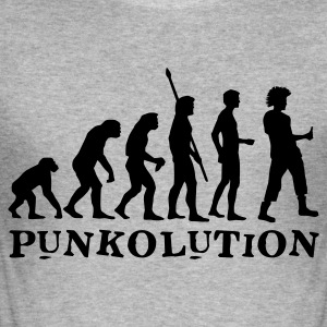 evolution_punk_b Gensere - Slim Fit T-skjorte for menn