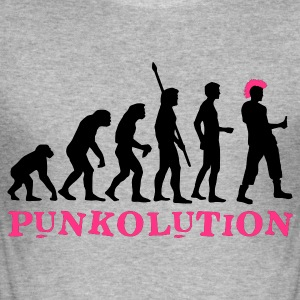 evolution_punk_2c_b Gensere - Slim Fit T-skjorte for menn