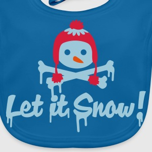Navy let it snow Kinder shirts - Bio-slabbetje voor baby's