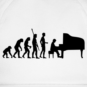 Weiß evolution_pianist T-Shirts - Baseballkappe