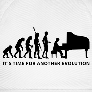 Weiß evolution_pianist_b T-Shirts - Baseballkappe