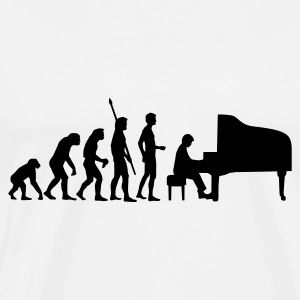 evolution_pianist Tröjor - Premium-T-shirt herr