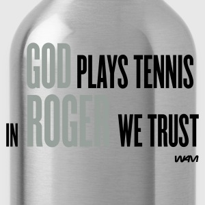 Navy god plays tennis - in roger we trust Pullover - Trinkflasche