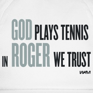 Vit god plays tennis - in roger we trust T-shirts - Basebollkeps