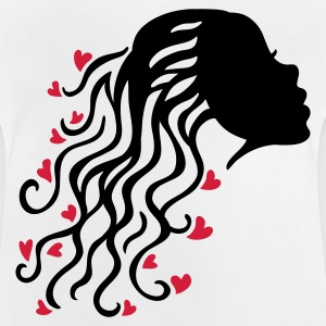 Weiß Woman Hair Heart 2 Kinder T-Shirts - Baby T-Shirt